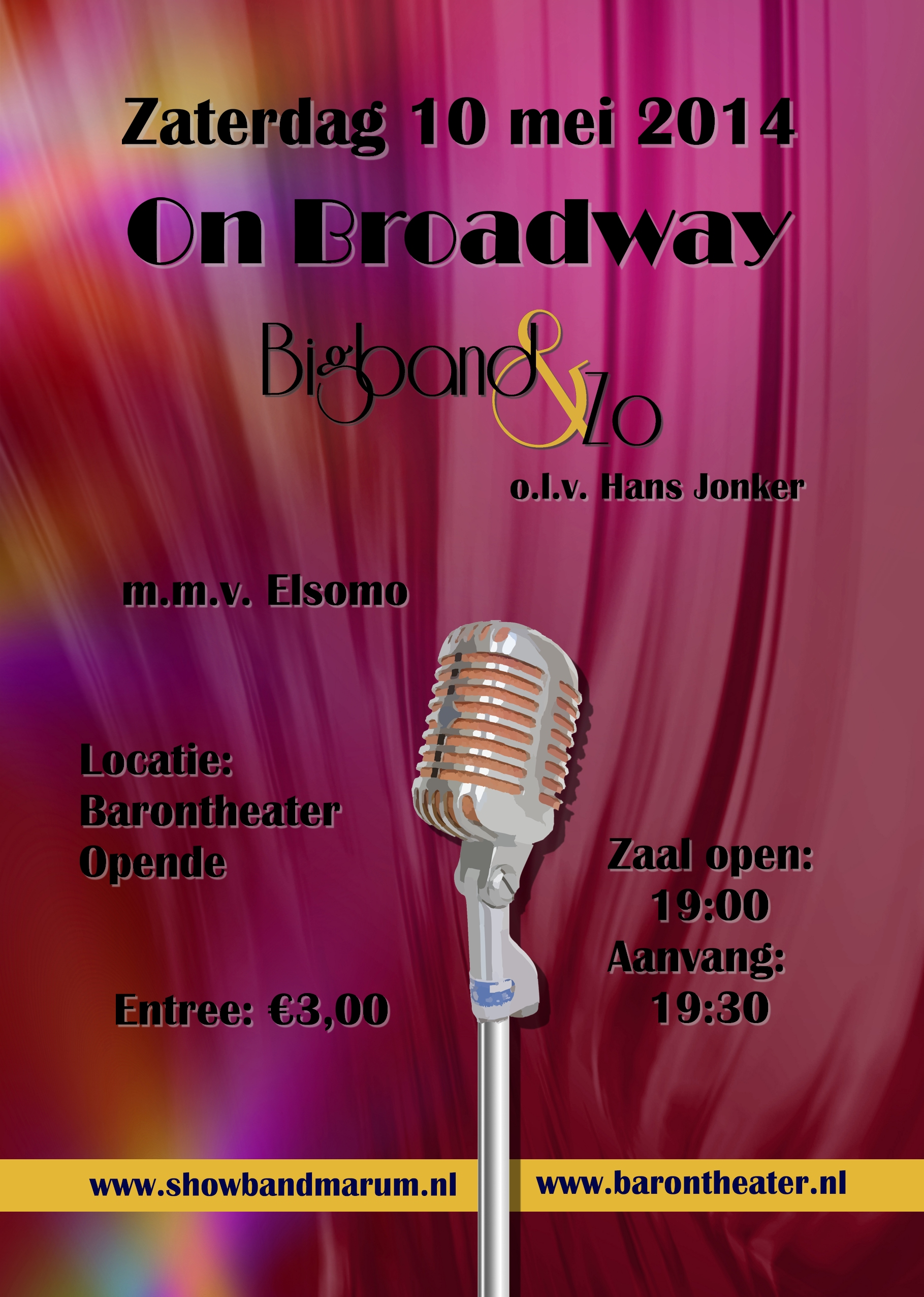 Flyer On Broadway Bigband & Zo